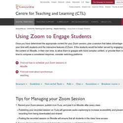 Using Zoom to Engage Students