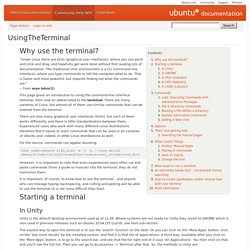 Using The Terminal