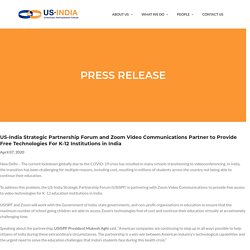 USISPF and Zoom Video Communication - Presse Release - USISPF