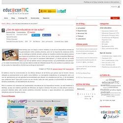 DocentesConectadosUsodedispositivosmóvilesenelaula ¿Uso de apps educativas en las aulas?