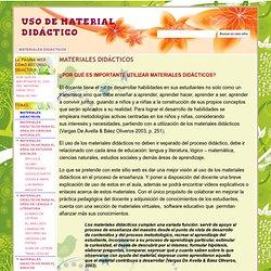 USO DE MATERIAL DIDÁCTICO