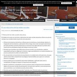 El uso educativo de las redes sociales » Propuestas TIC para el área de Lengua