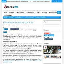 Uso de Normas APA versión 2015