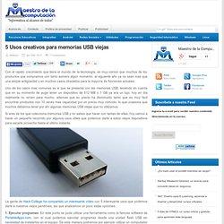 5 Usos creativos para memorias USB viejas