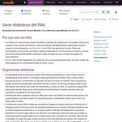 Usos didácticos del Wiki