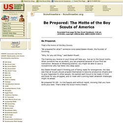 USSSP: Scoutmaster.org - Scout Motto