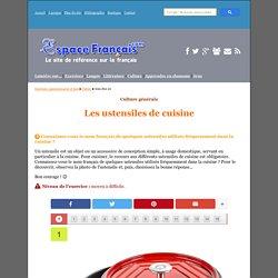 Exercice : Les ustensiles de cuisine - EspaceFrancais.com
