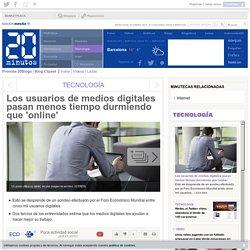 Los usuarios de medios digitales pasan menos tiempo durmiendo que 'online'