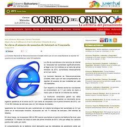 Se eleva el número de usuarios de Internet en Venezuela