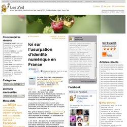 loi sur l'usurpation d'identité numérique en France