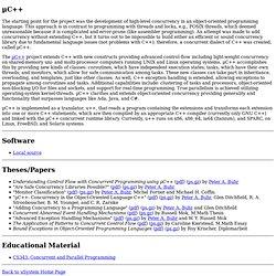 uSystem, uC++
