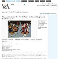 Utagawa Kunisada, 'The Kabuki Actors Ichikawa Kodanji IV and Bandô Kamezô'