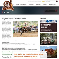 Rodeo's near Bryce Canyon
