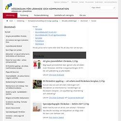 Kurser - Utbildning - Högskolan för lärande och kommunikation