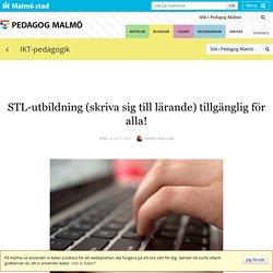 STL-utbildning (skriva sig till lärande) tillgänglig för alla!