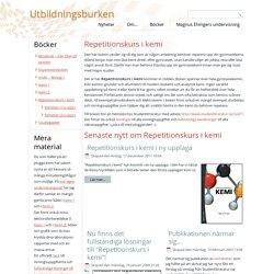Utbildningsburken - Repetitionskurs i kemi