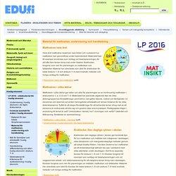 Utbildningsstyrelsen - Material för matfostran, undervisning och handledning