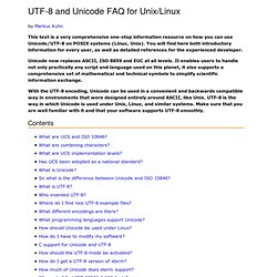 UTF-8 and Unicode FAQ
