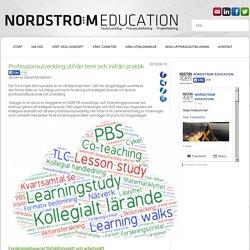 Professionsutveckling utifrån teori och inifrån praktik @ Nordström Education