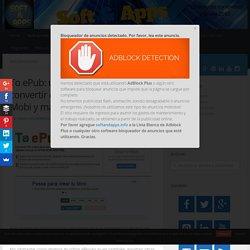 To ePub: utilidad web para convertir documentos a ePub, Mobi y más