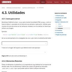 4.3. Utilidades (Bootstrap 3, el manual oficial)