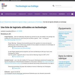 Une liste de logiciels utilisables en technologie