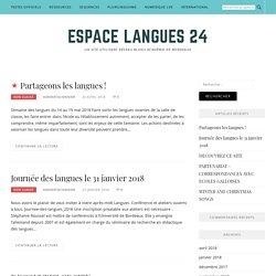 Espace langues 24 – Un site utilisant Réseau Blogs Académie de Bordeaux
