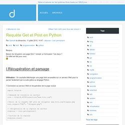 Requète Get et Post en Python - Choix-Libres : Web log d'un utilisateur/administrateur GNU/Linux