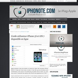 Guide utilisateur iPhone 5S et iOS 7 disponible en ligne