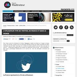 L'utilisateur type de Twitter, en France et dans le monde