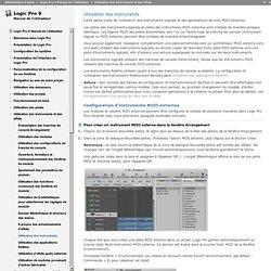 Logic Pro 9 Manuel de l'utilisateur: Utilisation des instruments