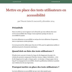 Mettre en place des tests utilisateurs en accessibilité – 24 jours de web
