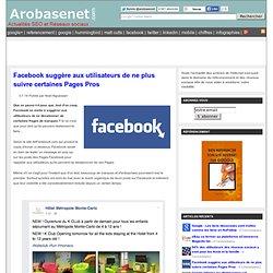 Facebook suggère aux utilisateurs de ne plus suivre certaines Pages Pros
