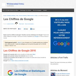 ▶ Les Chiffres de Google 2016 : Utilisateurs, Bénéfices, CA...