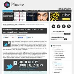 Comment les utilisateurs de Twitter posent des questions à leur communauté