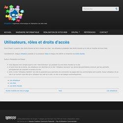 Utilisateurs, rôles et droits d'accès