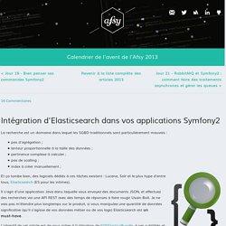 Intégration d'Elasticsearch dans vos applications Symfony2