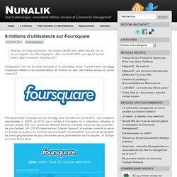 6 millions d'utilisateurs sur Foursquare