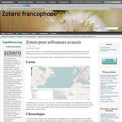 Zotero pour utilisateurs avancés