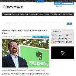Evernote dépasse les 8 millions d'utilisateurs en Chine