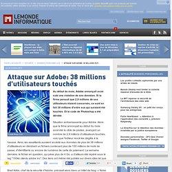 Attaque sur Adobe: 38 millions d'utilisateurs touchés