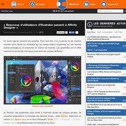 «Beaucoup d'utilisateurs d'Illustrator passent à Affinity Designer»