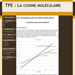Les utilisateurs de la cuisine moléculaire - TPE : La cuisine moléculaire