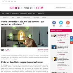Objets connectés et sécurité des données : que veulent les utilisateurs ?