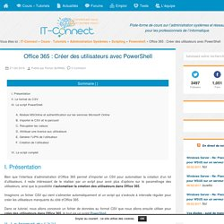 Office 365 : Créer des utilisateurs avec PowerShell
