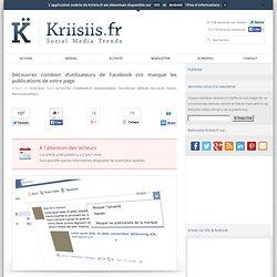Découvrez combien d'utilisateurs de Facebook ont masqué les publications de votre page