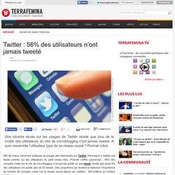 Twitter : 56% des utilisateurs n'ont jamais tweeté