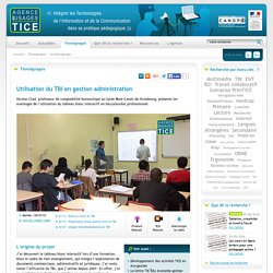 L'Agence nationale des Usages des TICE - Utilisation du TBI en gestion administration