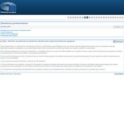 PARLEMENT EUROPEEN - Réponse à question E-002241-17 Utilisation de pesticides et substances interdites dans l'agriculture fraisicole espagnole