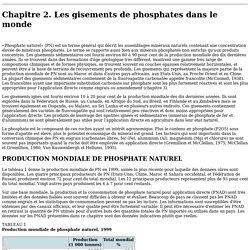 Utilisation des phosphates naturels pour une agriculture durable